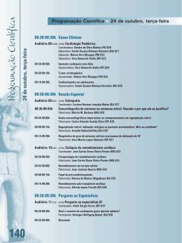 Programação Científica 140 - 70° Congresso Brasileiro de Cardiologia