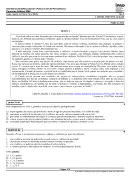 Secretaria de Defesa Social / Polícia Civil de Pernambuco Concurso