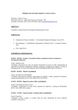 DÉBORA DE OLIVEIRA REBECA COSTACURTA
