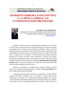 gilberto ferreira paim (1919-2013) e a crítica liberal