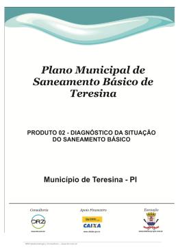 Município de Teresina - PI Plano Municipal de Saneamento Básico