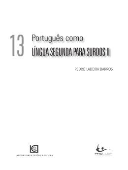 LÍNGUA SEGUNDA pArA SUrDOS II