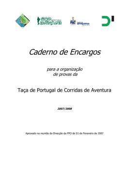 Caderno de Encargos - Federação Portuguesa de Orientação