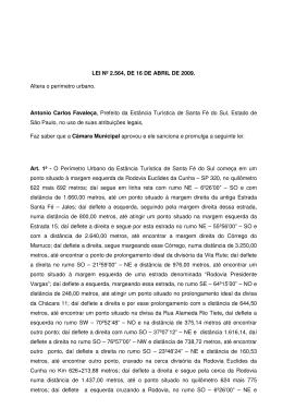 2564-ALTERA O PERIMETRO URBANO