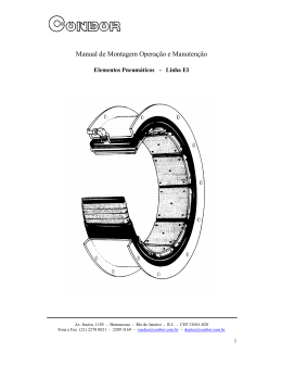 Manual de Montagem Operação e Manutenção