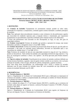 Procedimentos para Verificação (Acompanhamento) de