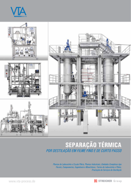 separação térmica - VTA Verfahrenstechnische Anlagen GmbH