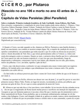 Biografia Cícero