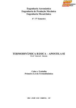 TERMODINÂMICA BÁSICA – APOSTILA 02