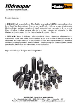 Catalogo de lubrificacão