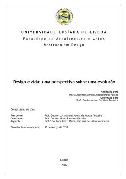 Design e vida: uma perspectiva sobre a evolução