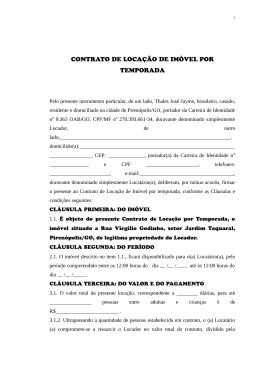 Licurana Imoveis Ltda Contrato De Locação