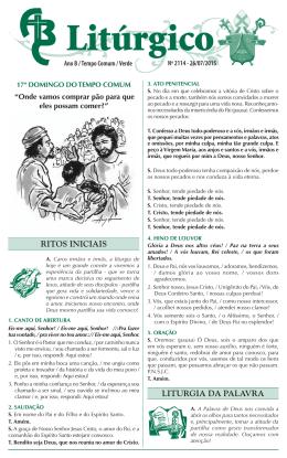 nº 2114 — 26/07/2015 — 17º domingo do