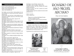 Rosário de São Miguel Arcanjo - Comunidade Católica Santos Anjos
