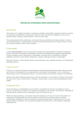 Manual de orientações sobre quimioterapia