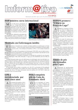 FOP ministra curso internacional UPE é recredenciada por mais