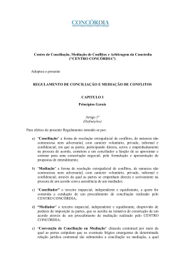 Centro de Conciliação, Mediação de Conflitos e