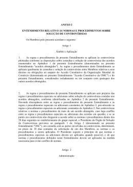 ANEXO 2 ENTENDIMENTO RELATIVO ÀS NORMAS E