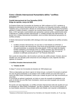 REV definicao de conflitos armados - International Committee of the