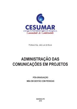 Administração das Comunicações em Projetos.indd