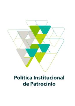 Política Institucional de Patrocínio