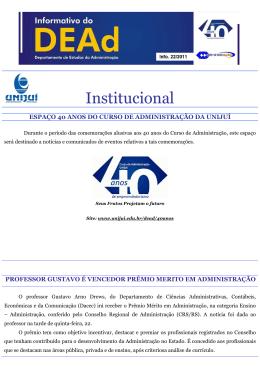 Informativo 1- DACEC - 22 07 2011