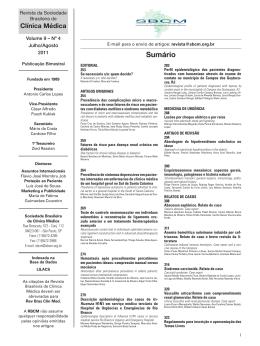 Índice Volume 9 nº 4 - Julho/Agosto de 2011