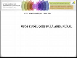 Usos e soluções para área rural - Eduardo R Neger