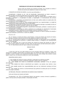 Portaria 675/GM de 2006 - Prefeitura de Duque de Caxias