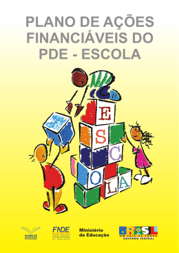 plano de ações financiáveis do pde - escola