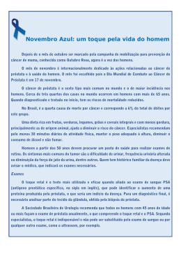 Novembro Azul: um toque pela vida do homem