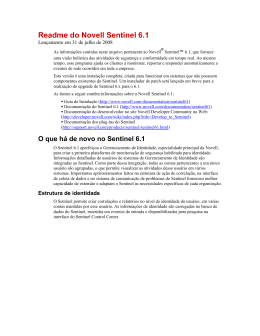 Readme do Novell Sentinel 6.1