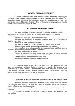 CARTILHA PASTOREIO RACIONAL VOISIN