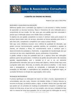 A GESTÃO DO ENSINO NO BRASIL