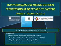 Alunas - Escola Superior de Tecnologia de Castelo Branco