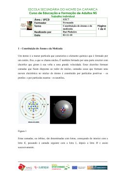 Tema 1 - Atomo e Molecula