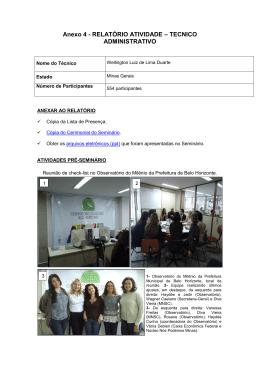 Anexo 4 - RELATÓRIO ATIVIDADE – TECNICO