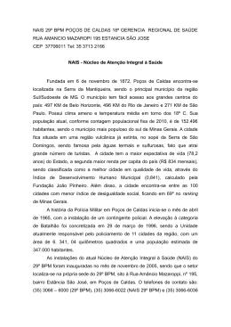 29º BPM Poços de Caldas - Polícia Militar de Minas Gerais