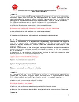 Prova Tipo 1 - Comissão Estadual de Residência Médica em Goiás