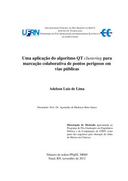 Uma aplicação do algoritmo QT clustering para - DCA