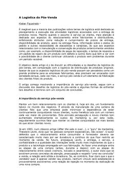 A Logística do Pós Vendas - Future Website of professorricardo