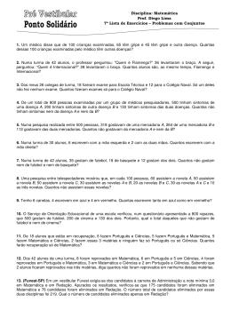 7ª Lista - Problemas com Conjuntos - Prof. Diego Lima