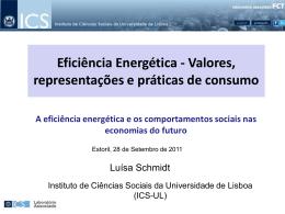 Eficiência Energética? Valores, representações e práticas de