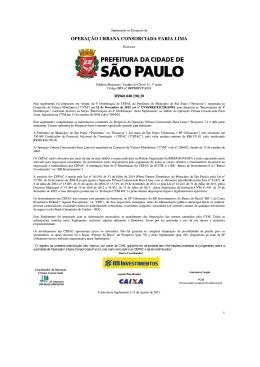 Suplemento da Operação Urbana Faria Lima