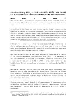 cobrança indevida de iss por parte do município