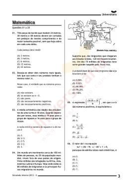Simulado Interno 2013-II | Prova de Matemática