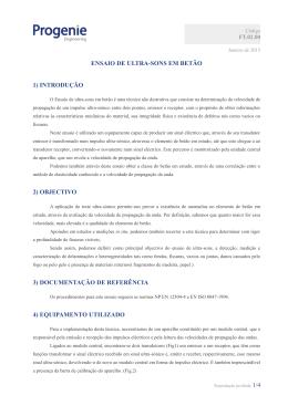 ENSAIO DE ULTRA-SONS EM BETÃO 1) INTRODUÇÃO 2