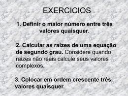 EXERCICIOS - educaonline