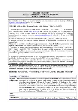 MATERIA PUBLICAÇÃO COD Pericia SE-S-NE sites