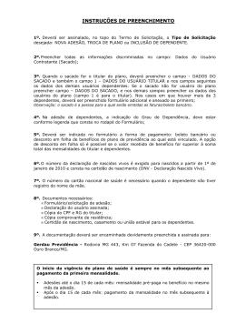Formulário de adesão APOSENTADO